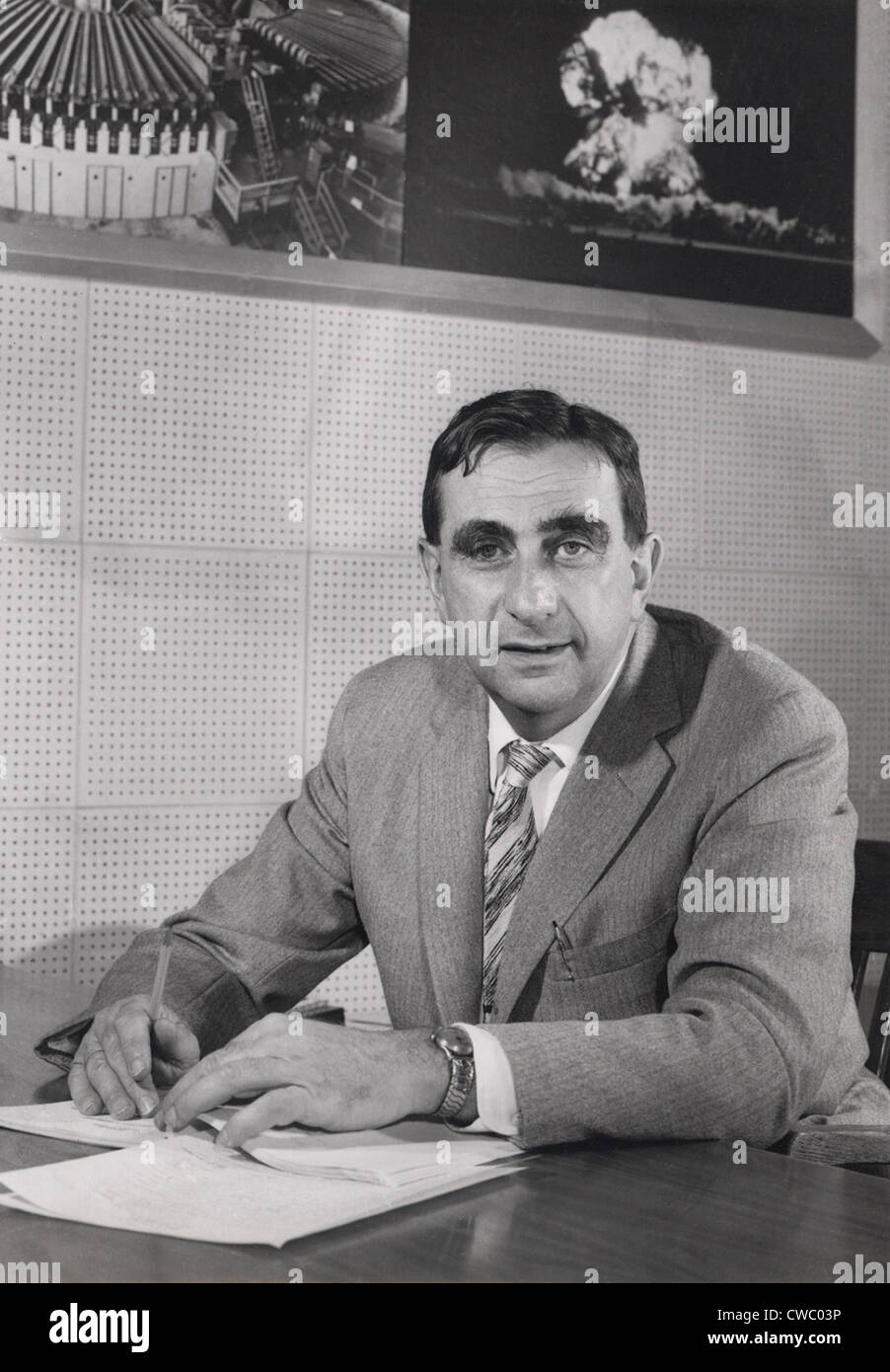 Edward Teller (1908-2003), in 1958, as Director of Lawrence Livermore National Laboratory. - Stock Image