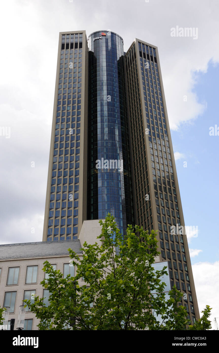 The PWC Tower 185, Frankfurt, Germany. - Stock Image