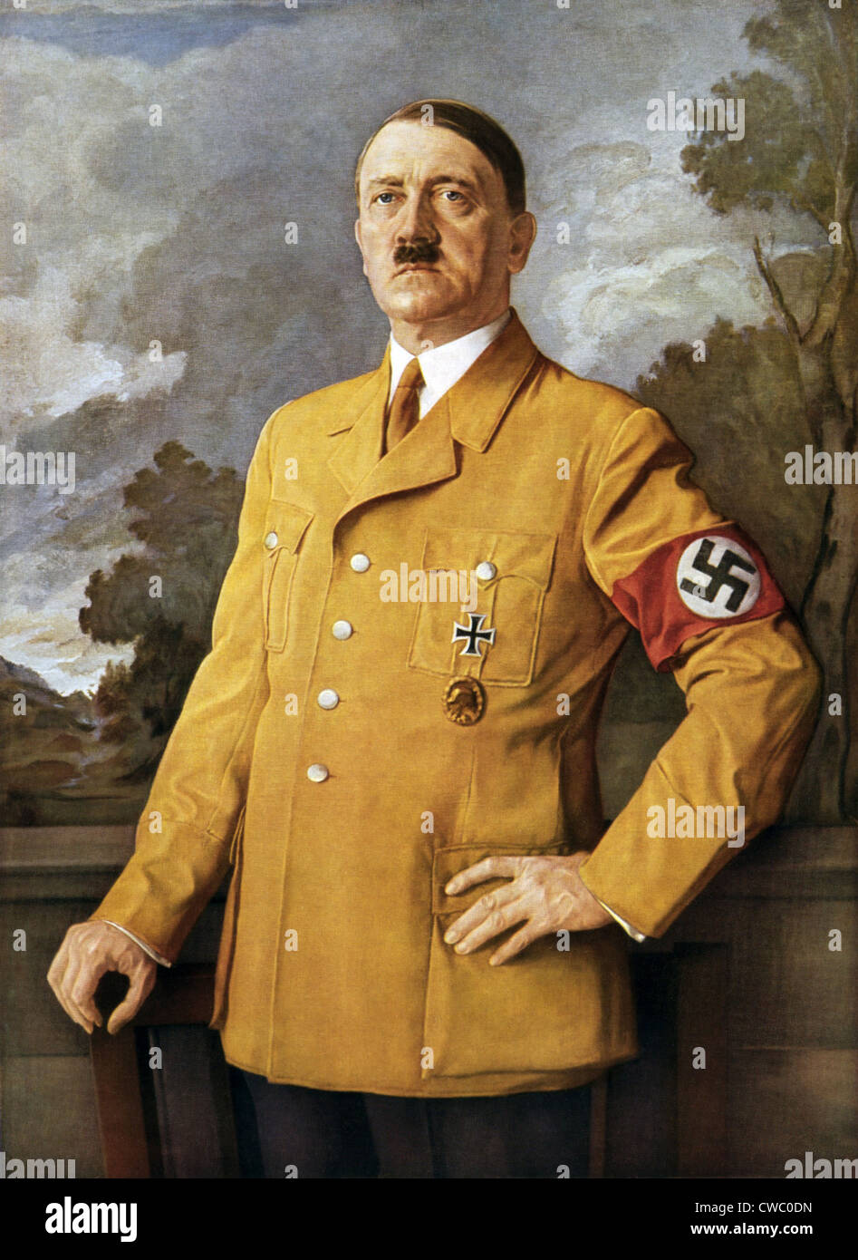 OUR FUHRER, a portrait of Adolf Hitler by Heinrich Knirr. Ca. 1940. - Stock Image