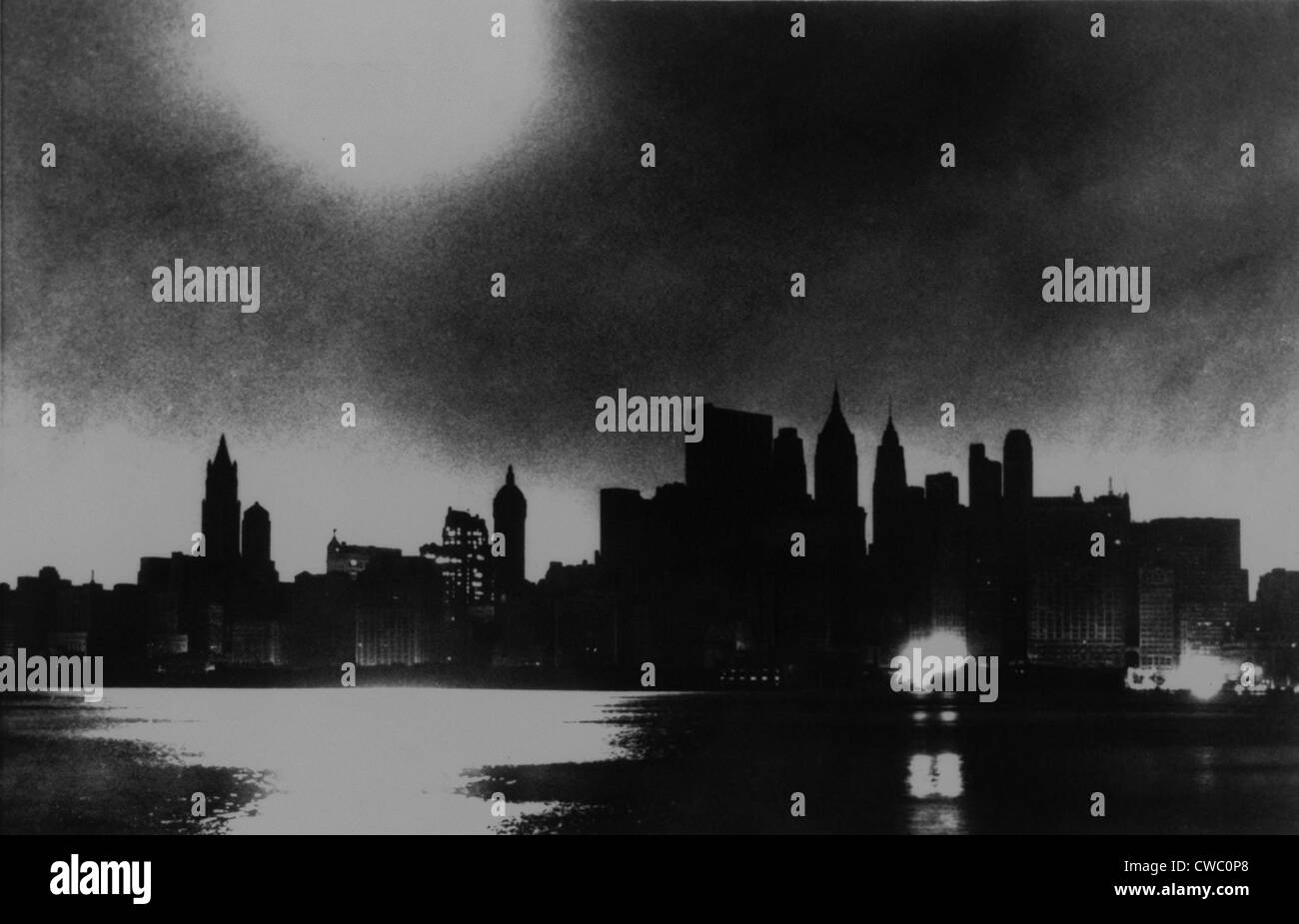 New York City Skyline During Blackout Of November Cwc P
