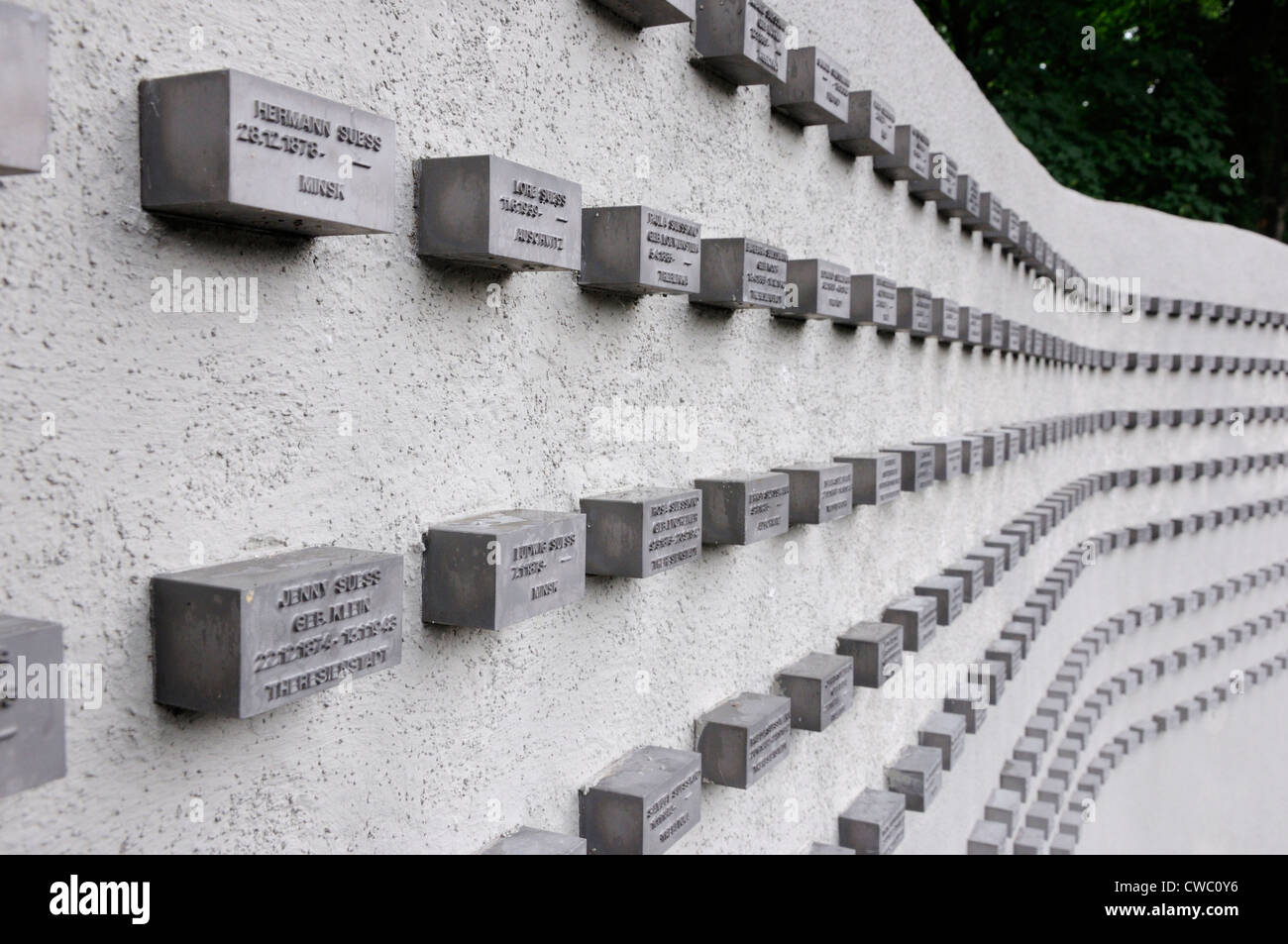 Memorial to the Frankfurt jewish citizens who were killed in the Holocaust, Frankfurt, Germany. Stock Photo