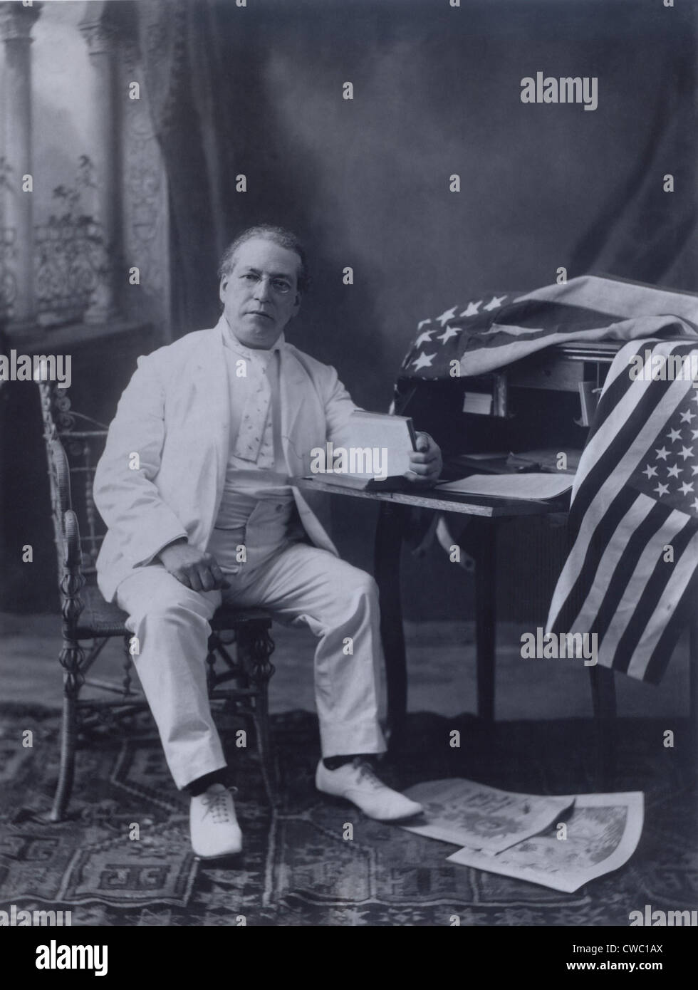Samuel Gompers (1950-1924), founded the American Federation of Labor (AFL), and served as its president from 1886 - Stock Image