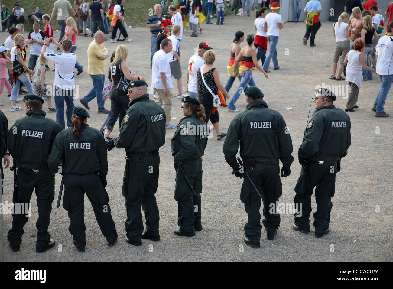 Gelsenkirchen, police at the Fan Fest FIFA World Cup 2006 - Stock Image