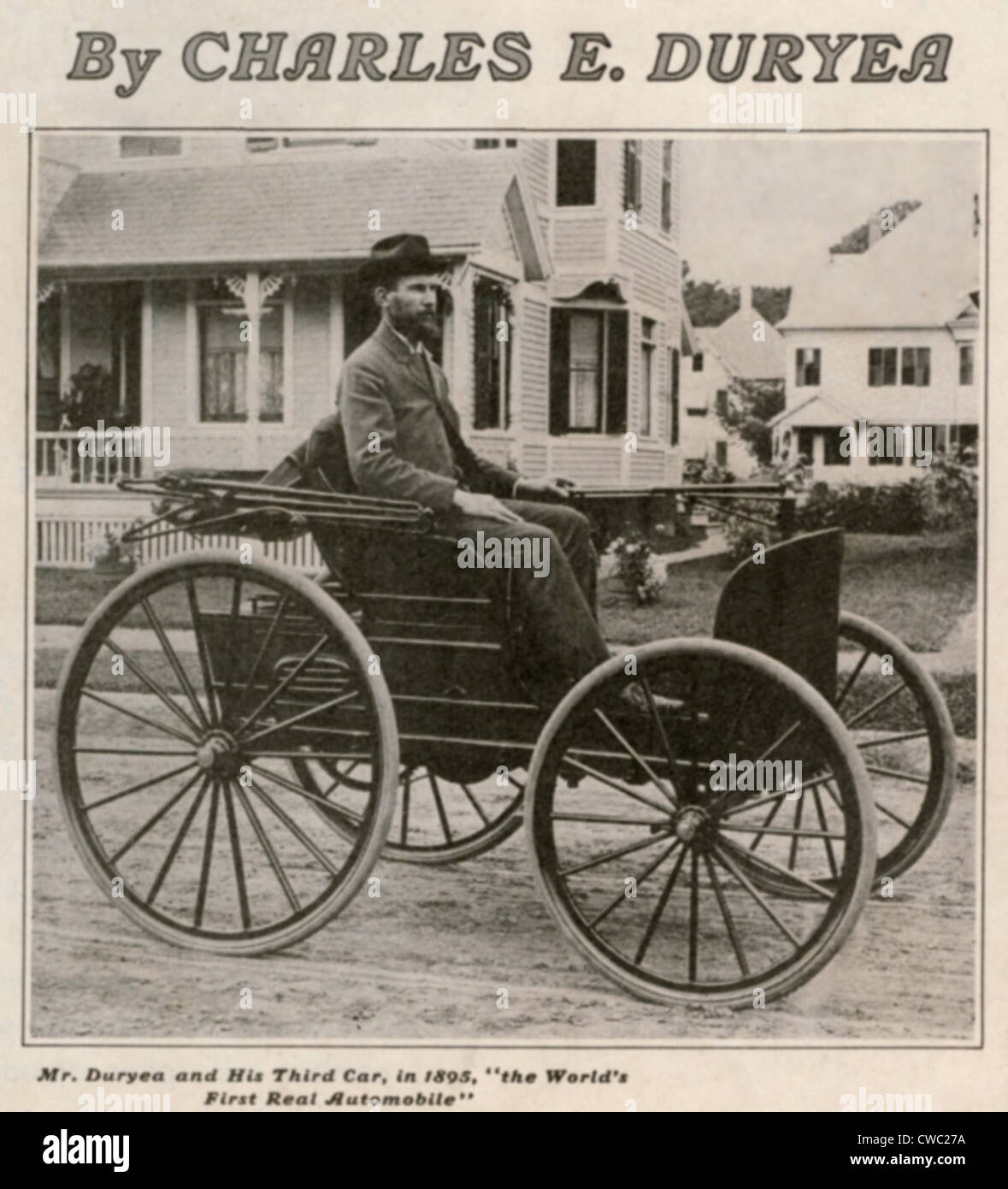 Charles Edgar Duryea 1862-1938 in his third car was an American ...