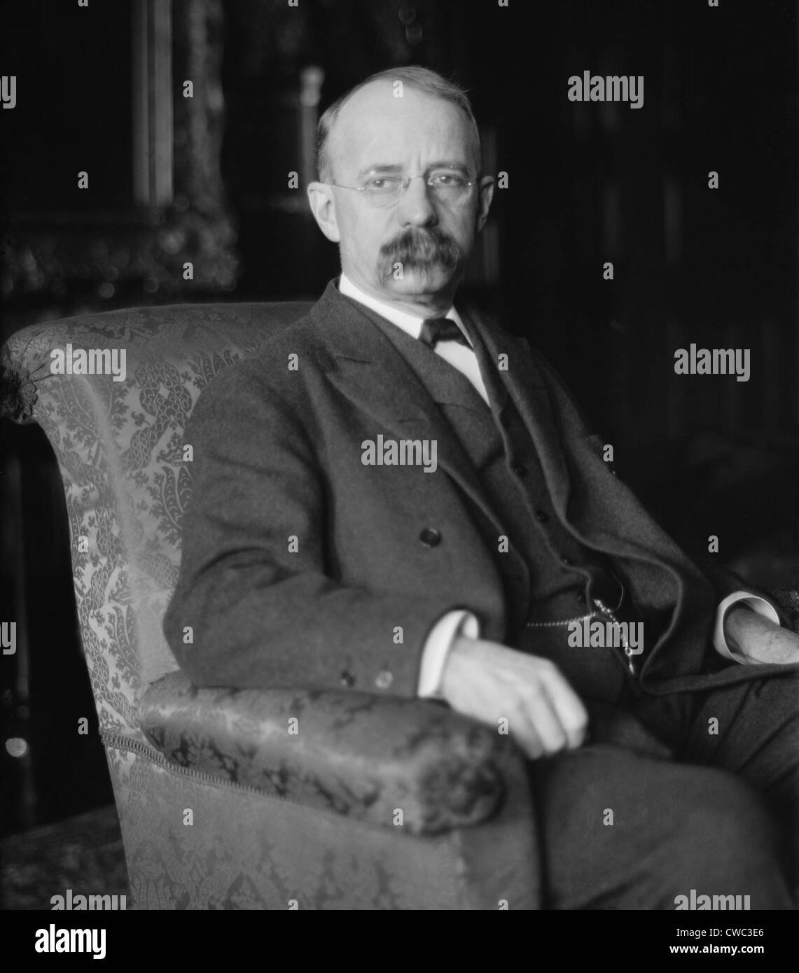 Edward Harriman 1848-1909 was the aggressive director of the Union Pacific Railroad from 1897 until his death. He - Stock Image