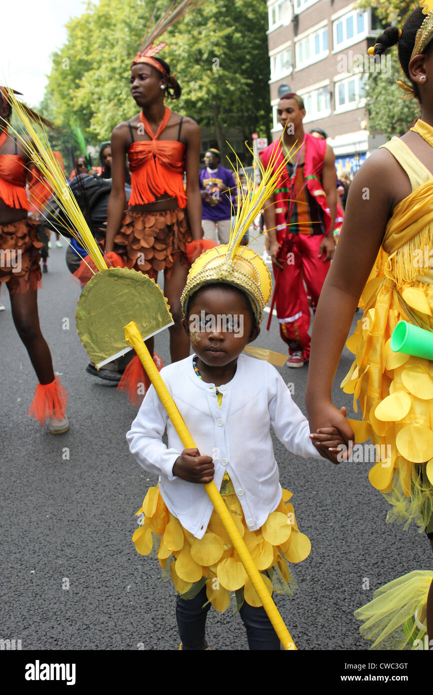 Young child at Annual Notting  Hill Carnival 2011 - Stock Image
