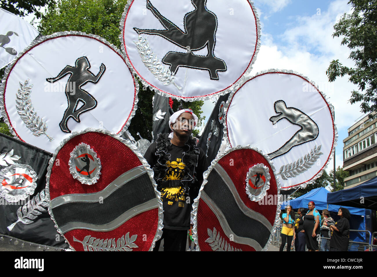 Costume and parade Annual Notting  Hill Carnival 2011 - Stock Image
