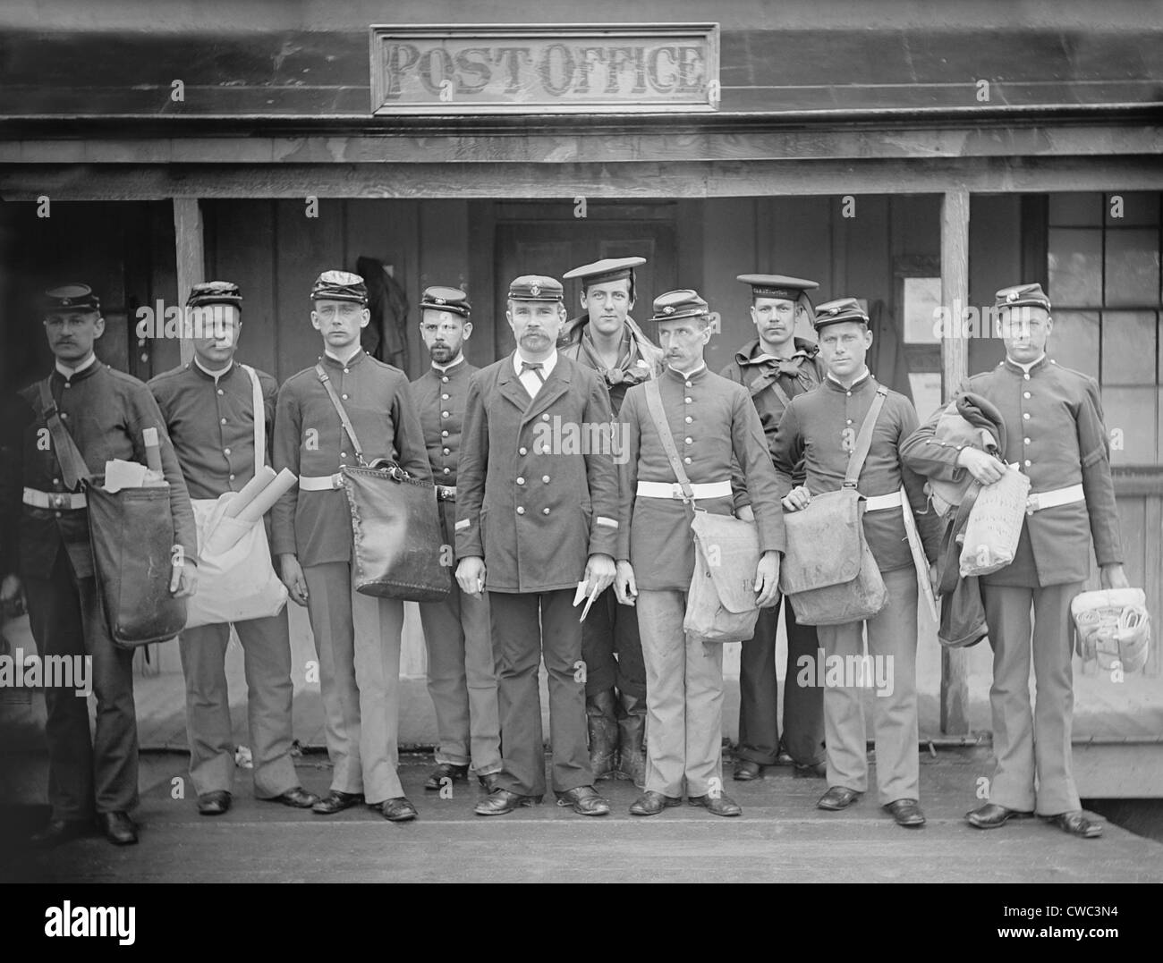 U.S. Military mail orderlies. Ca. 1890-1901. (BSLOC_2010_18_86) - Stock Image