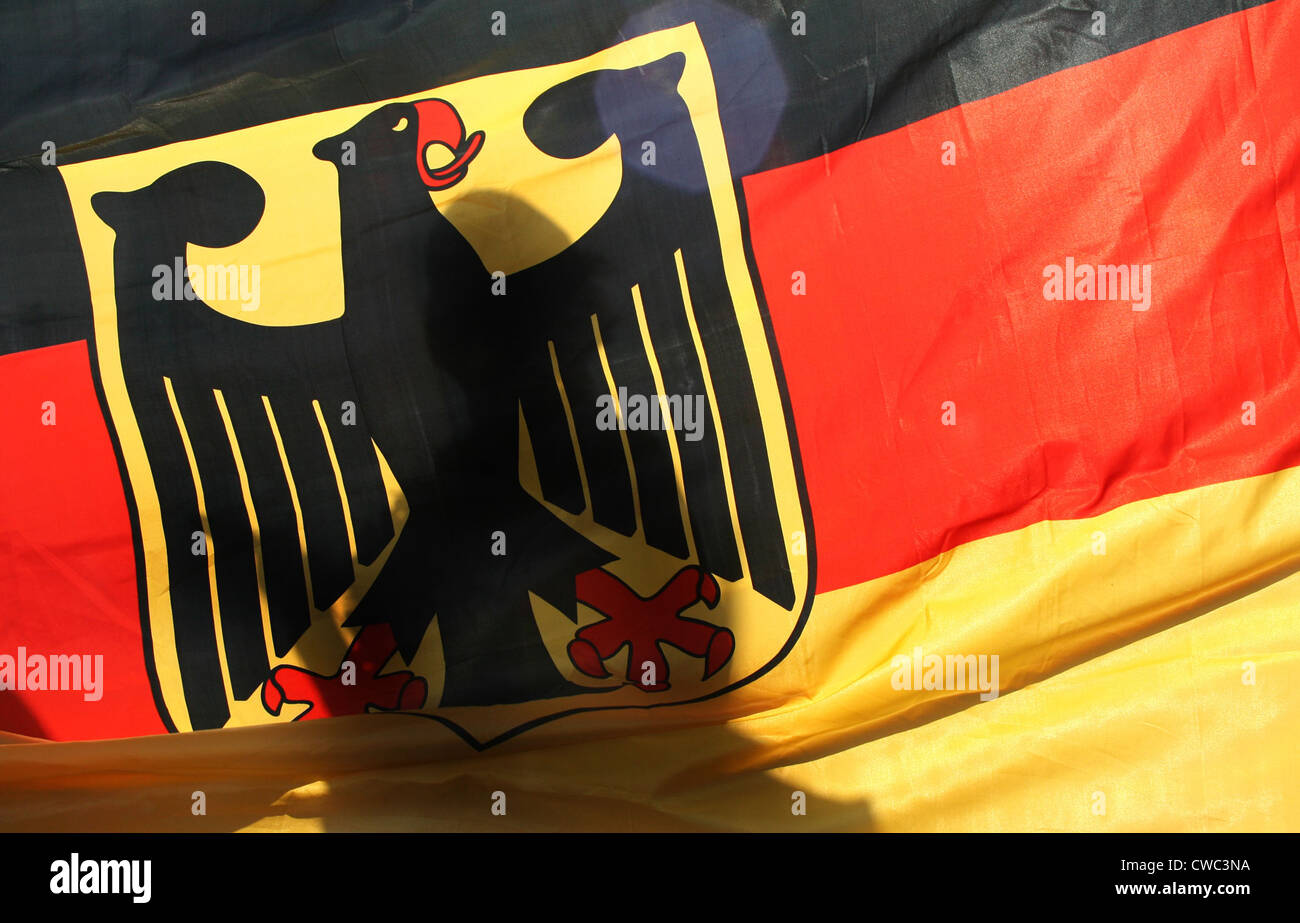 Berlin, Germany flag - Stock Image