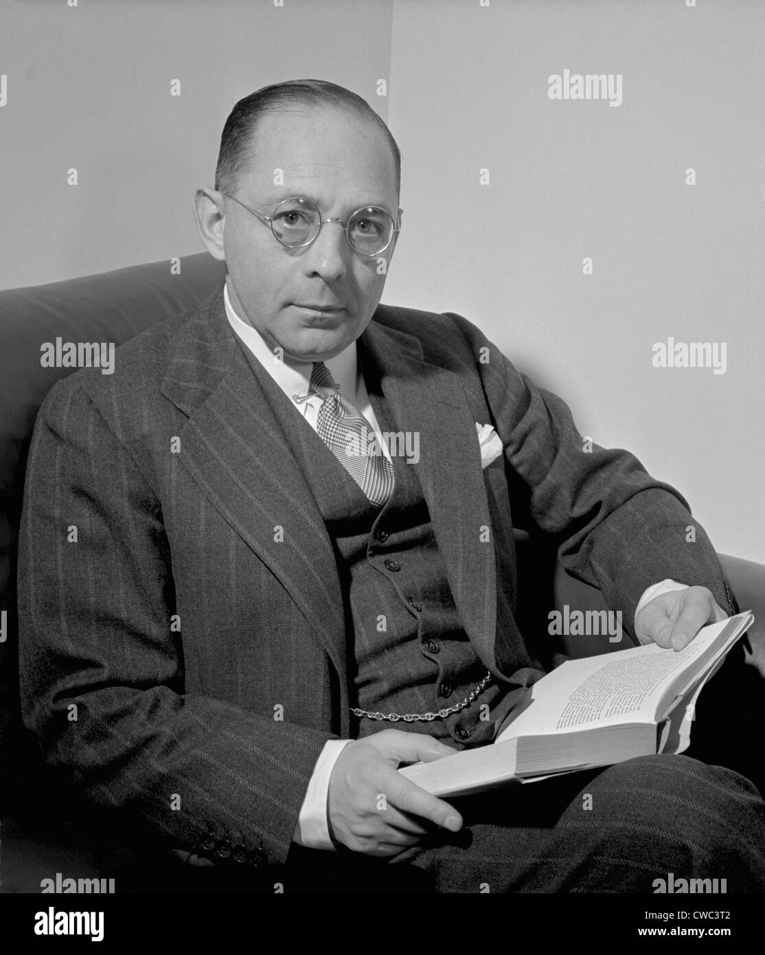 Sidney Weinberg 1891-1969 CEO of Goldman Sachs investment bank during the Great Depression and World War II. Unlike - Stock Image