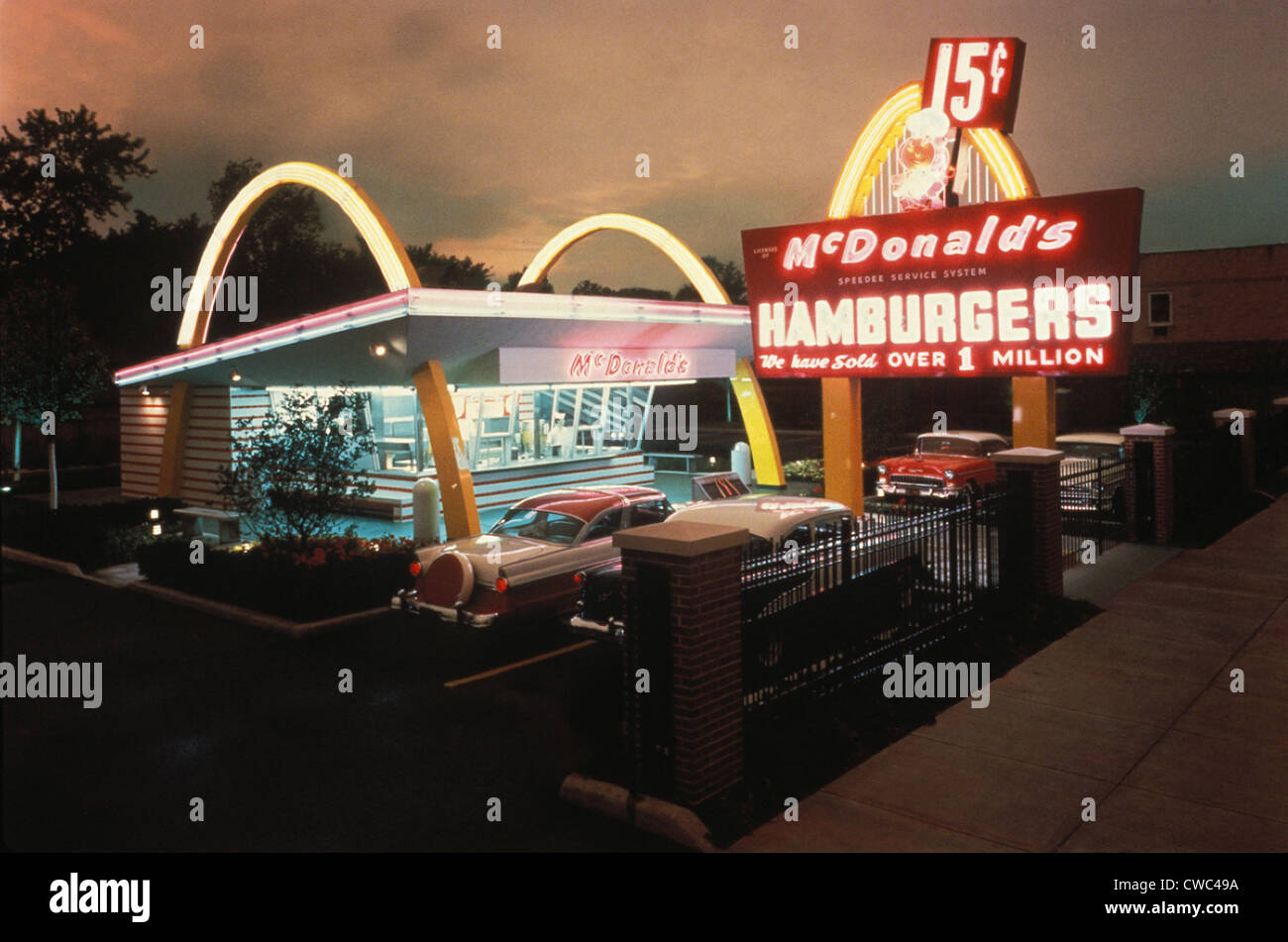 McDonald's 1 Store Museum is a recreation of the first McDonald's Restaurant. It opened as a restaurant - Stock Image