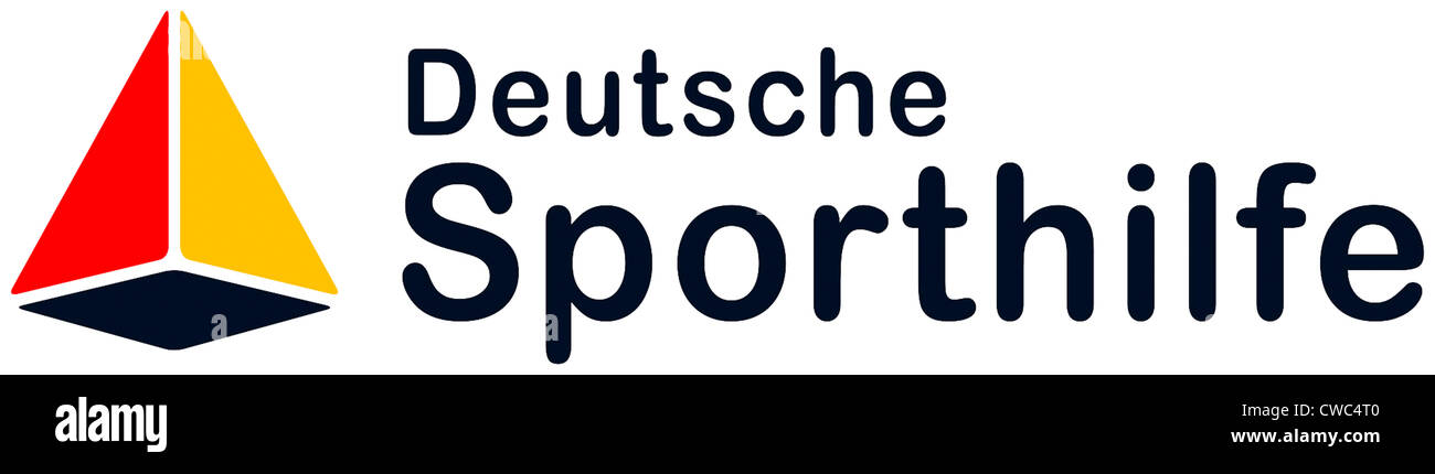 Logo of the Foundation Deutsche Sporthilfe. - Stock Image