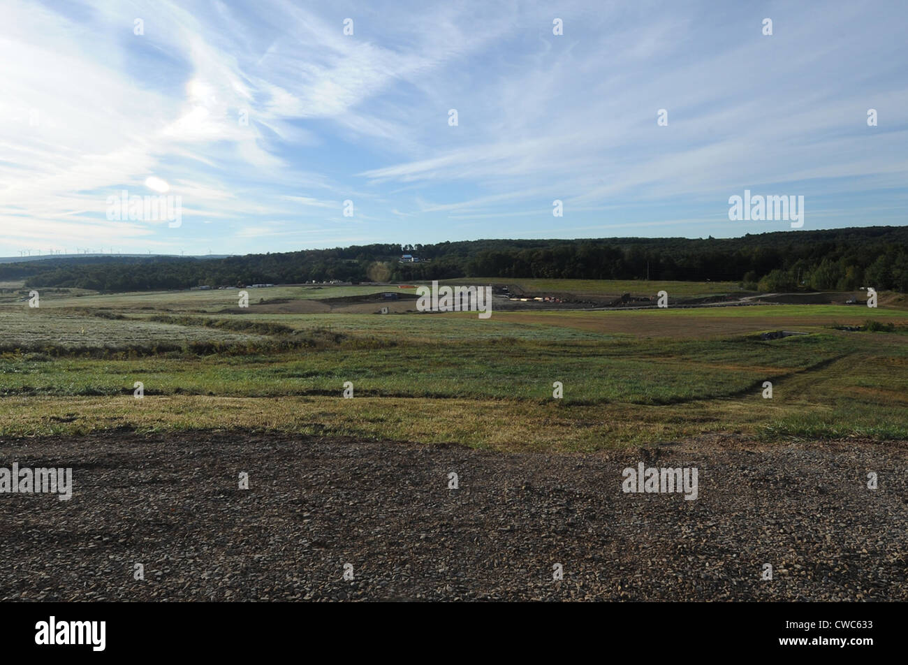 The Western Overlook where Flight 93 crashed on September 11 2001 will be the site of the Flight 93 National Memorial. - Stock Image