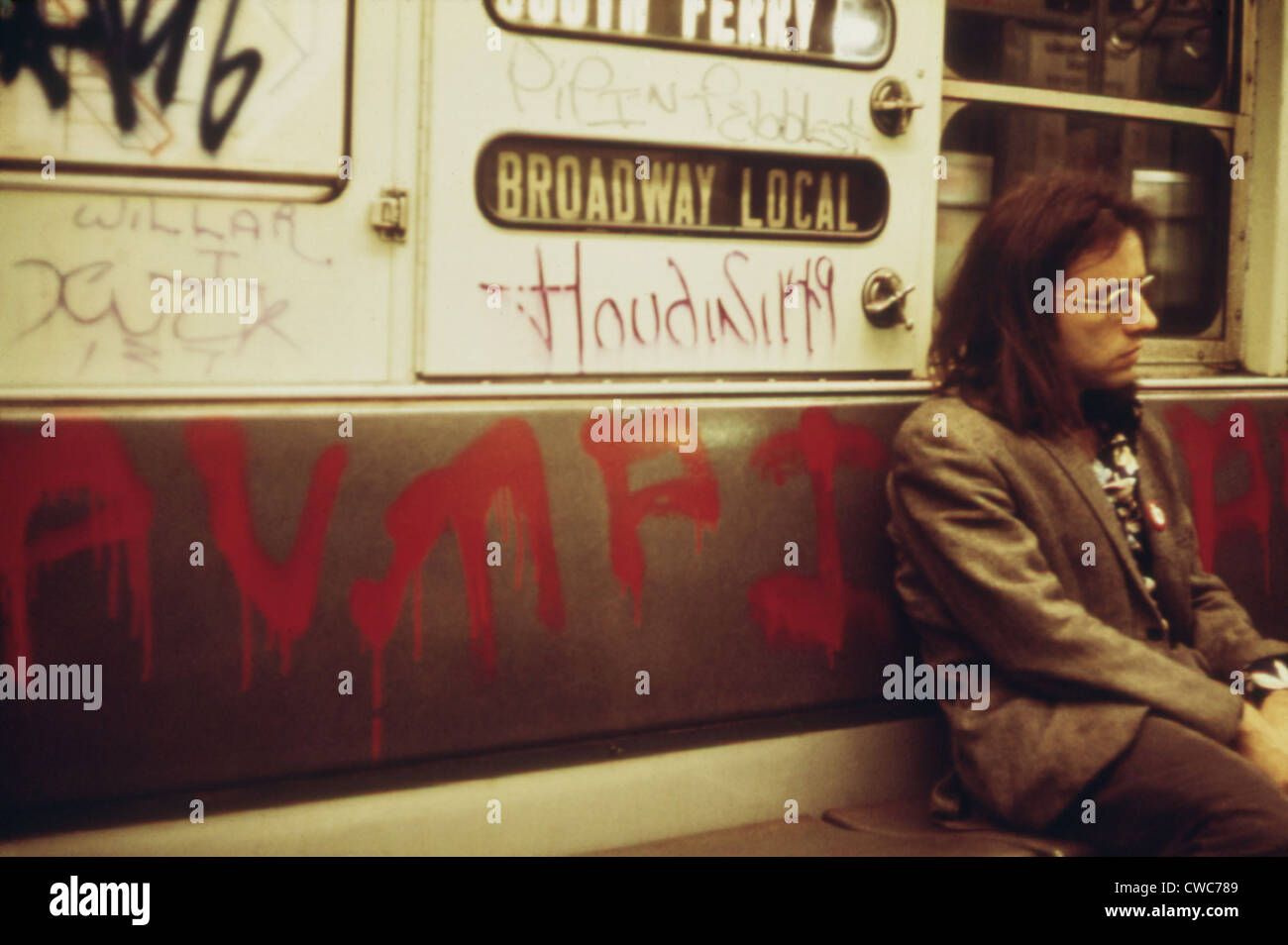 new york city subway car interior covered with spray painted stock photo 50056281 alamy. Black Bedroom Furniture Sets. Home Design Ideas