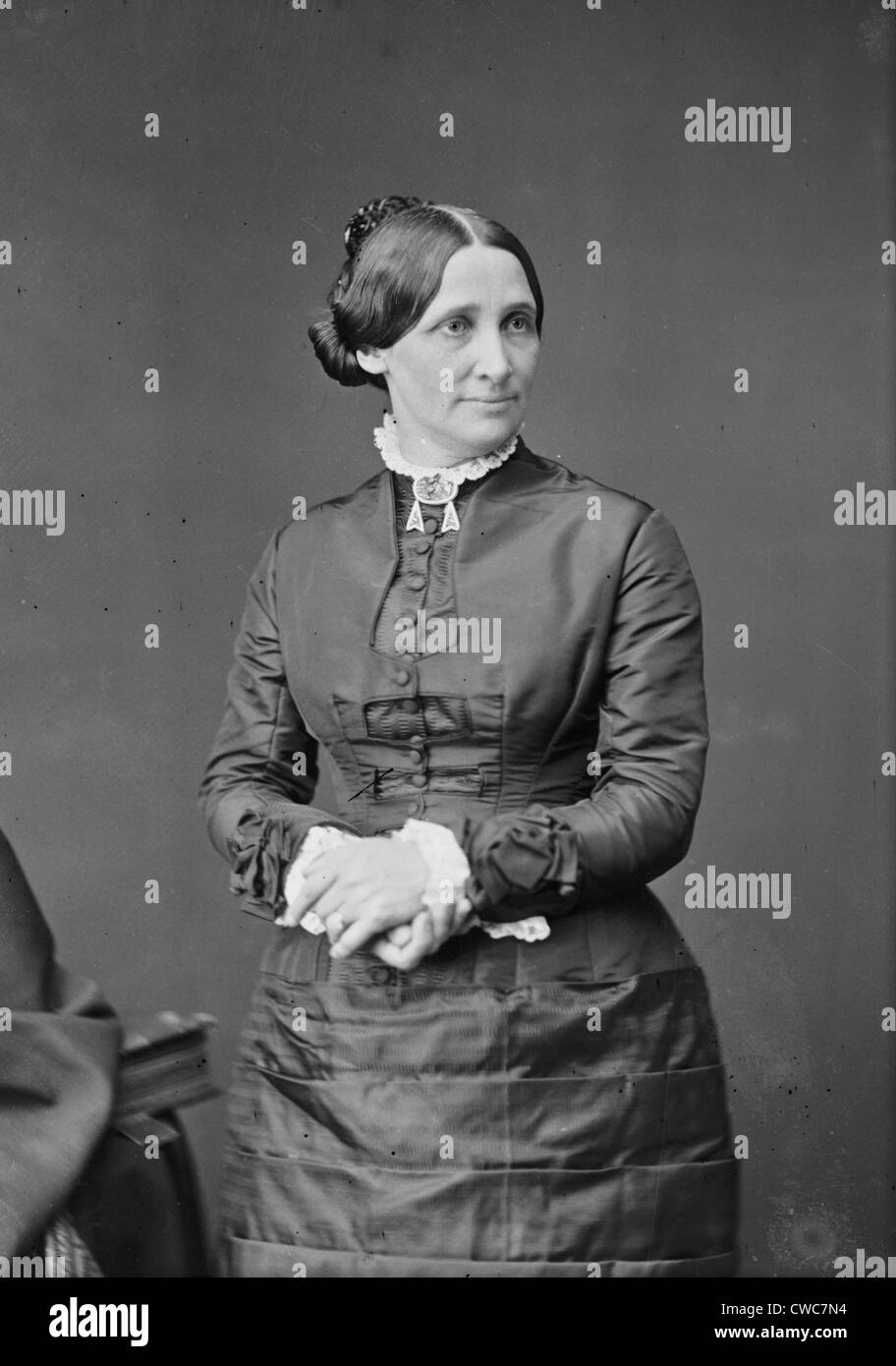 Mrs. Rutherford B. Hayes 1860s - Stock Image