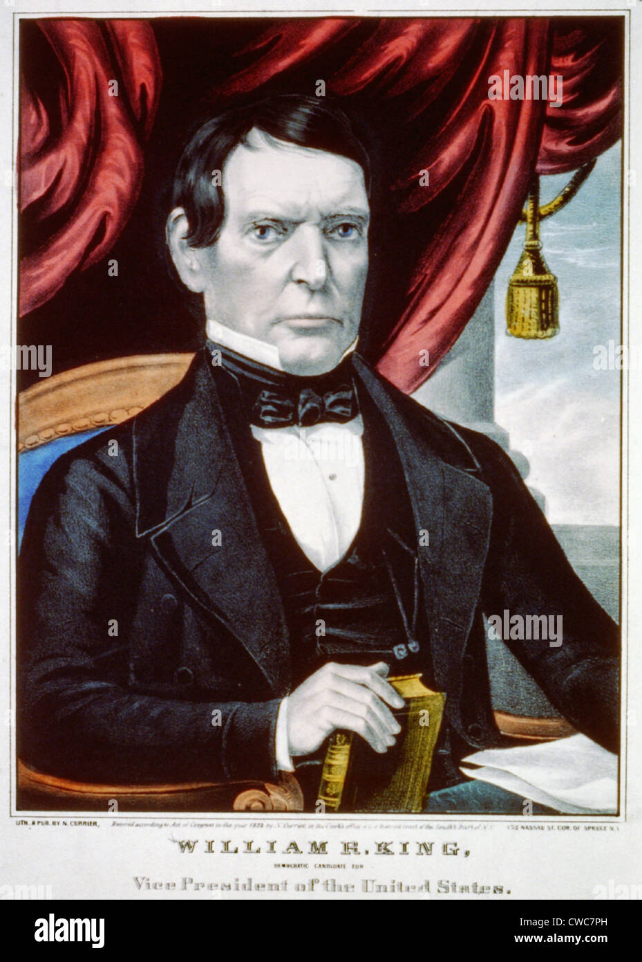 William R. King democratic candidate for Vice President of the United States 1852 - Stock Image
