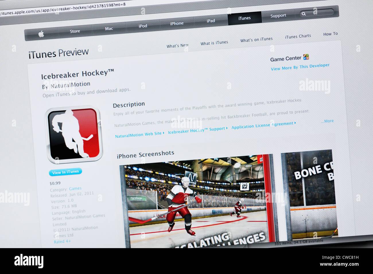 Icebreaker Hockey App Website Interactive Hockey Game Stock Photo