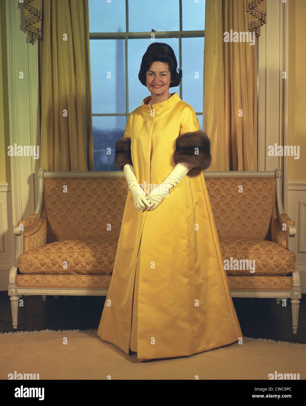 Lady Bird Johnson\'s Inaugural Gown. The First Lady wore canary ...