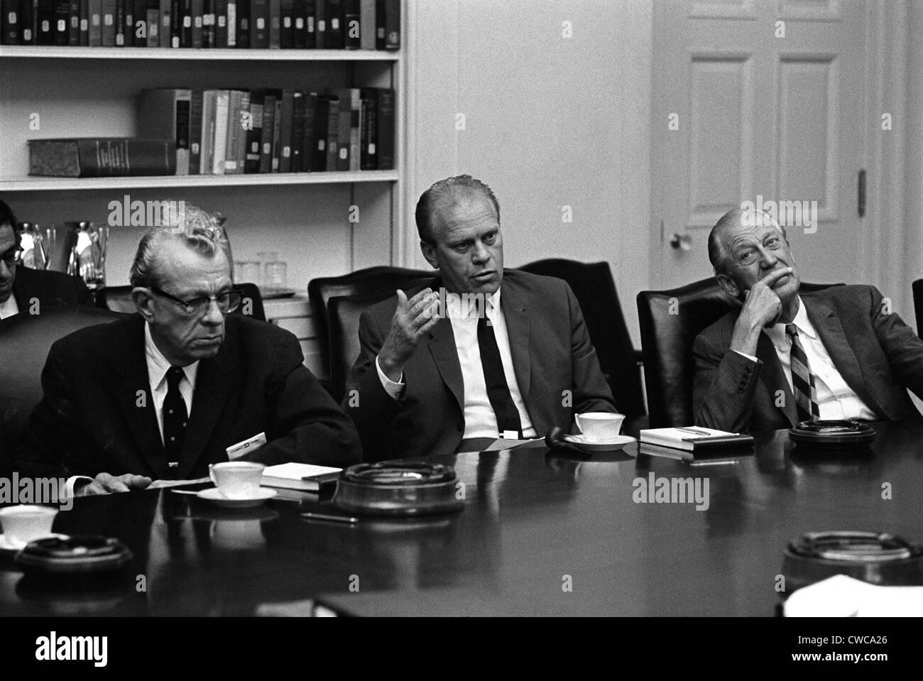 Vietnam War escalation  Republican leaders meet with