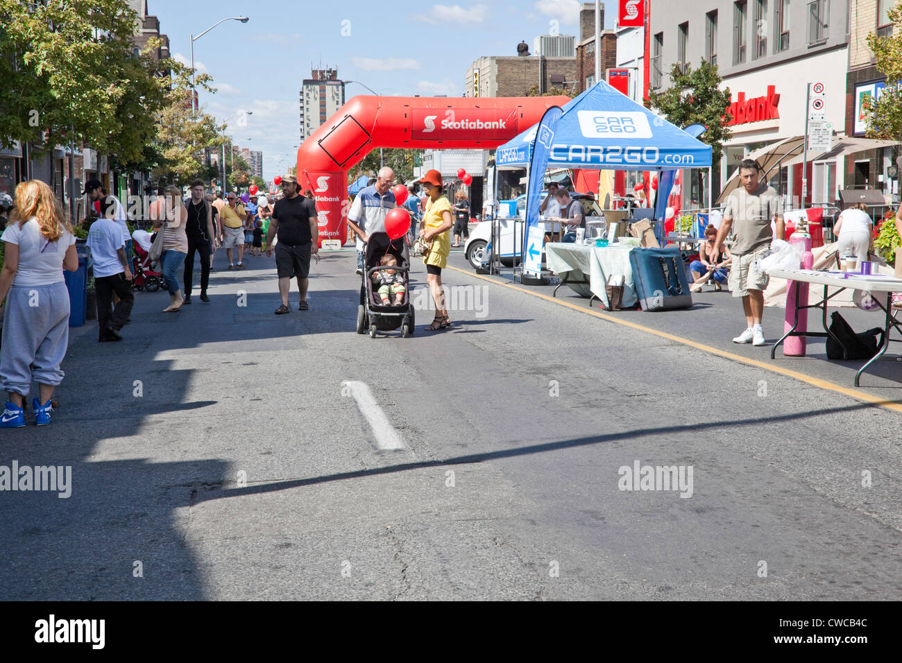 Side Walk or Street Festival in Toronto;Ontario;Canada;on Bloor West Village - Stock Image