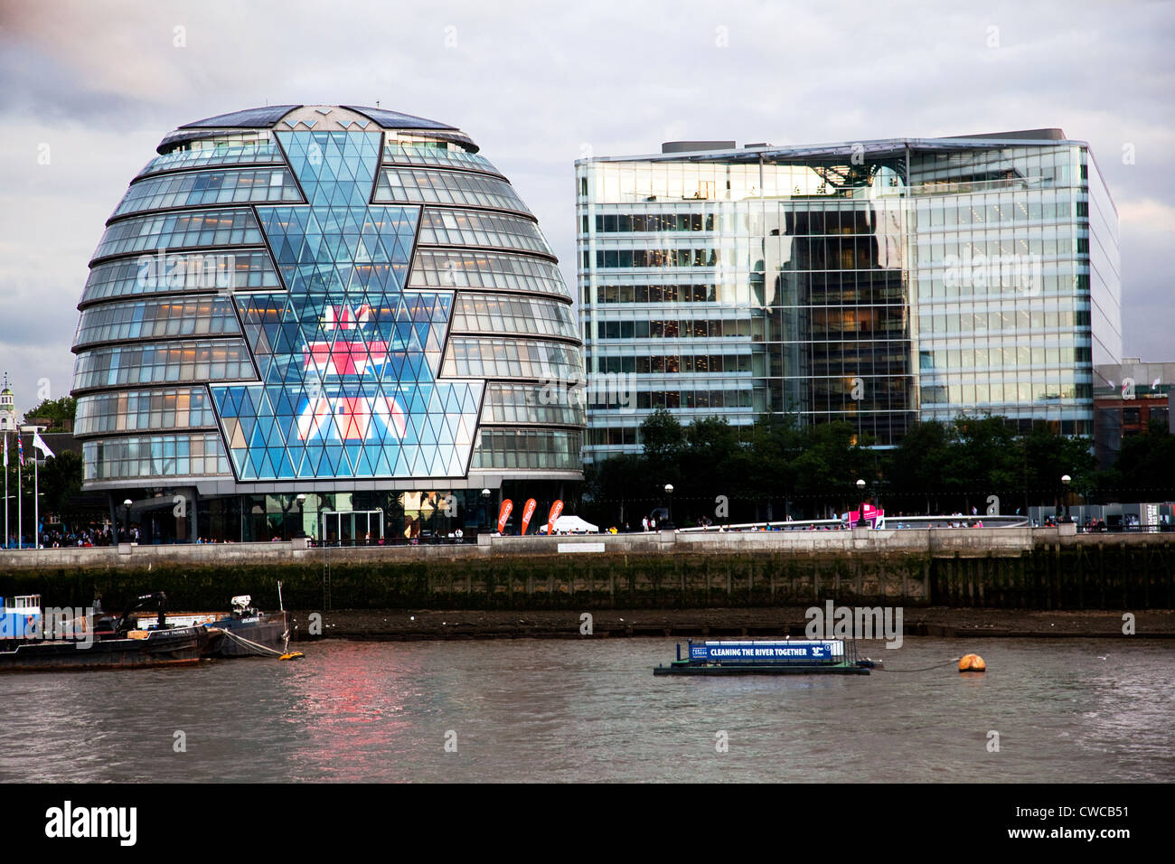 The Scoop,Greater London Authority, City Hall London England. Designed by the award-winning architect Norman Foster, - Stock Image