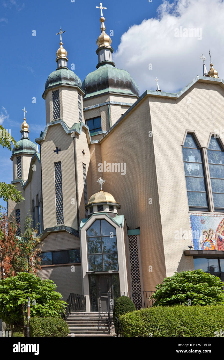 Ukranian Catholic Church Ossington Avenue Toronto Ontario Canada - Stock Image