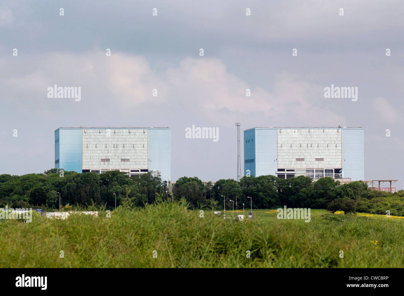 Hinkley  A reactor buildings at Hinkley Point nuclear power station, Somerset, England - Stock Image