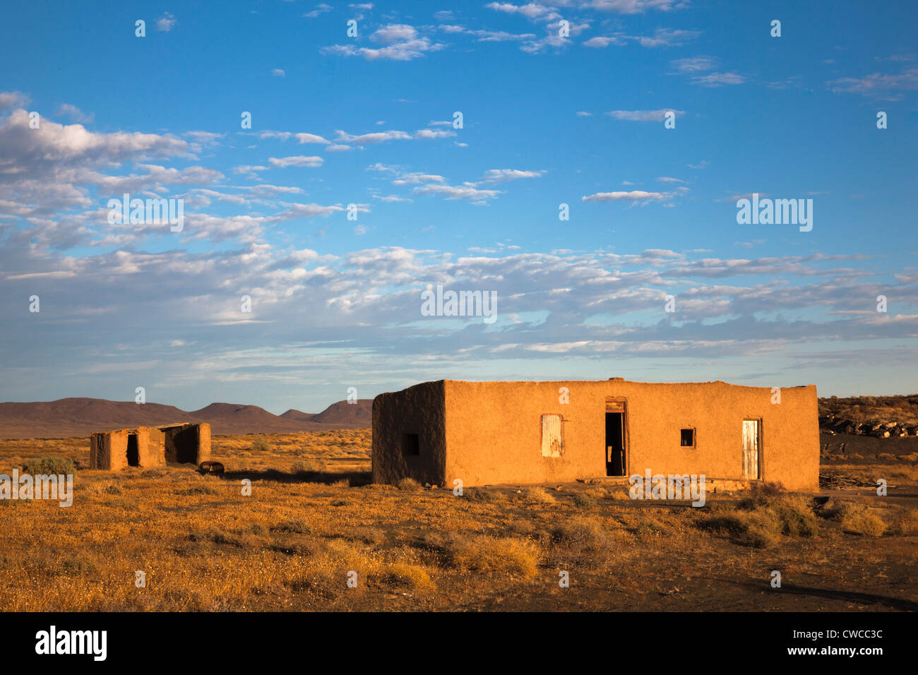 Abandoned farmstead, Tanqua Karoo national park, South Africa - Stock Image