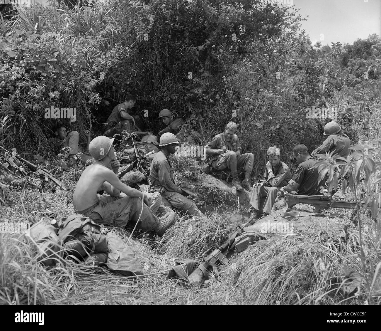 Vietnam war soldiers of the 101st airborne division take a break vietnam war soldiers of the 101st airborne division take a break from jungle fighting east of tam ky the capital city of sciox Choice Image