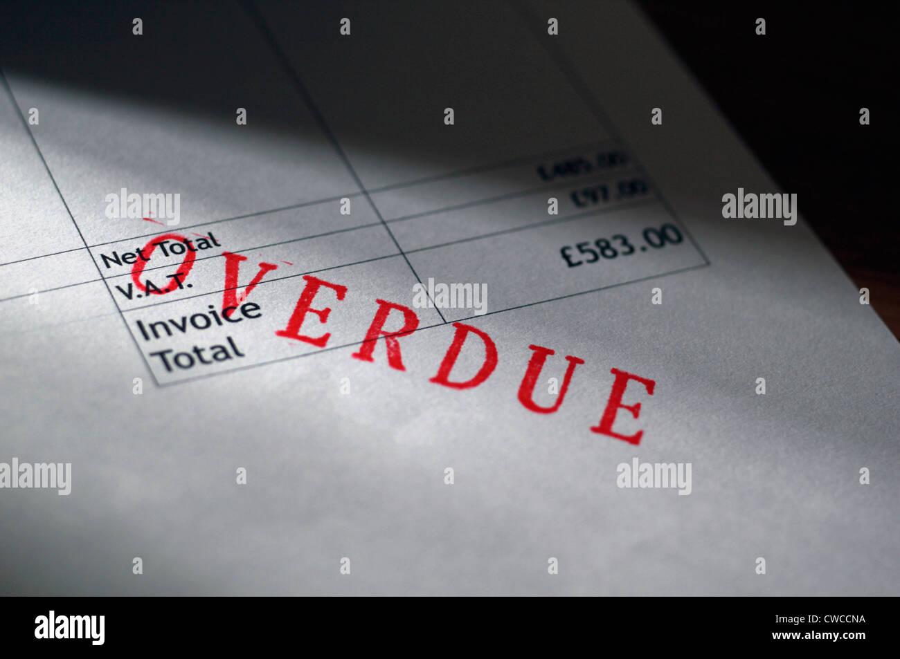 Overdue Invoice - Stock Image