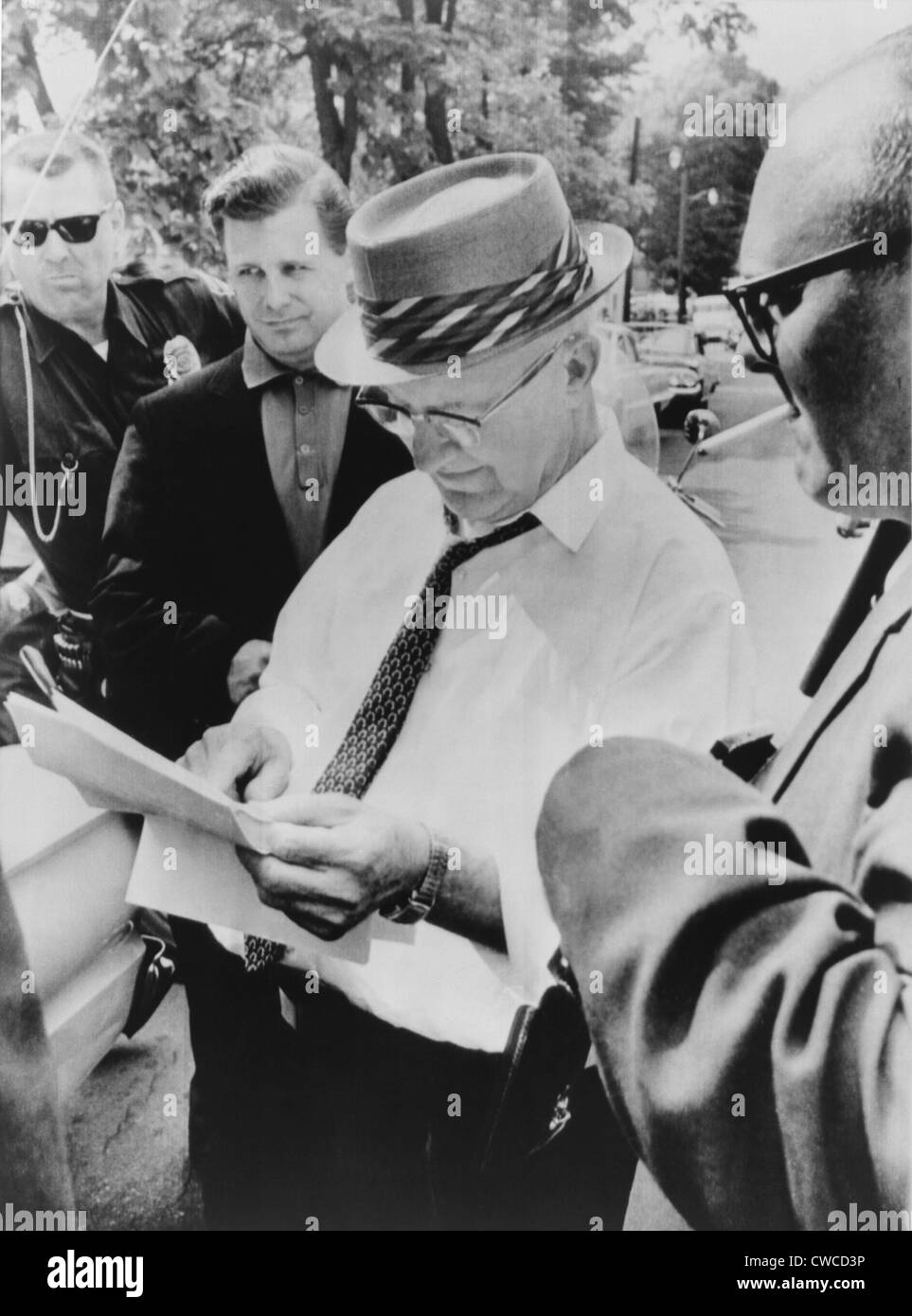 Eugene 'Bull' Connor, Birmingham, Alabama's notorious Commissioner of Public Safety. In 1963 he led - Stock Image