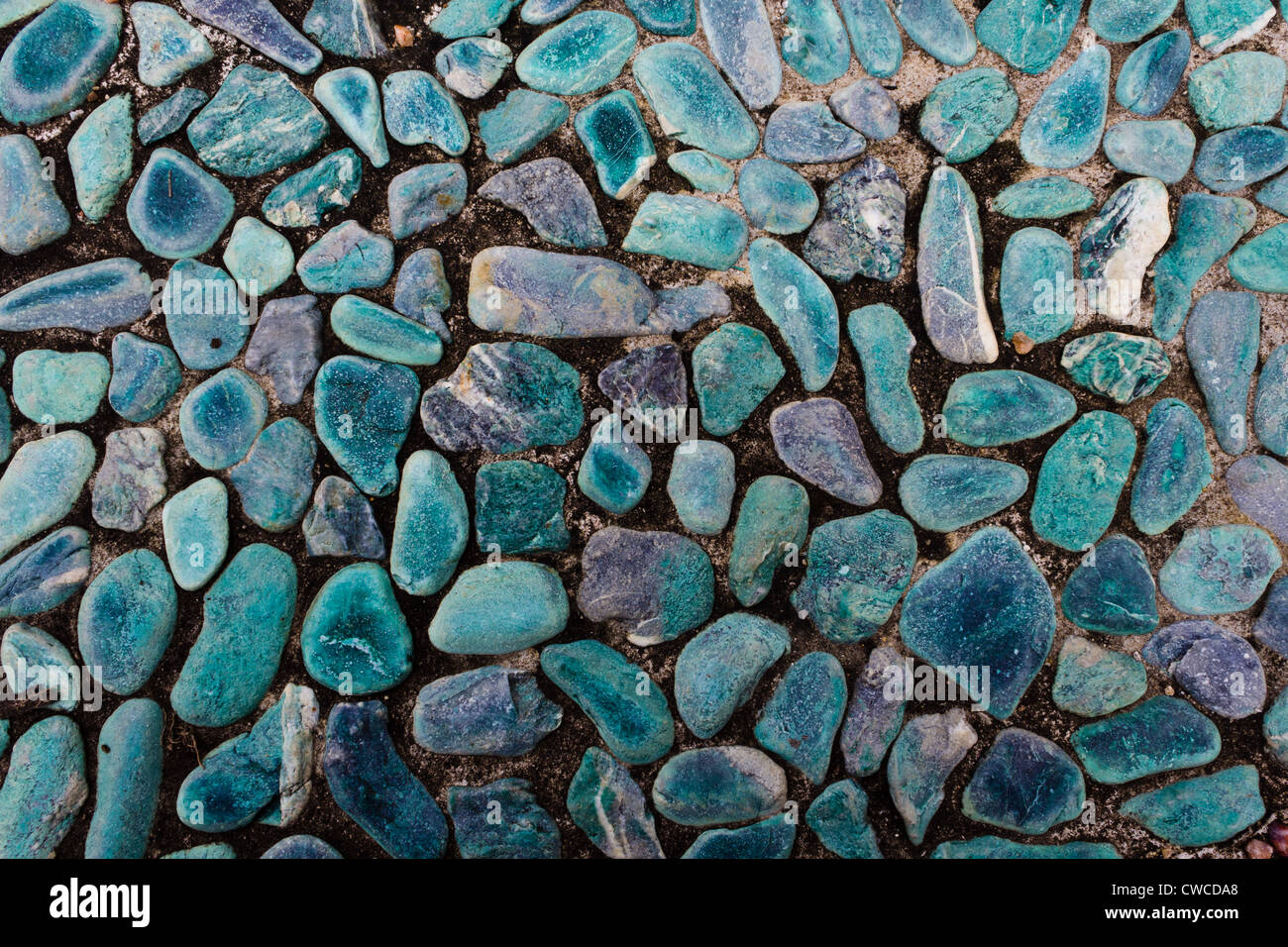 Aqua Floor of the Small Rocks. - Stock Image