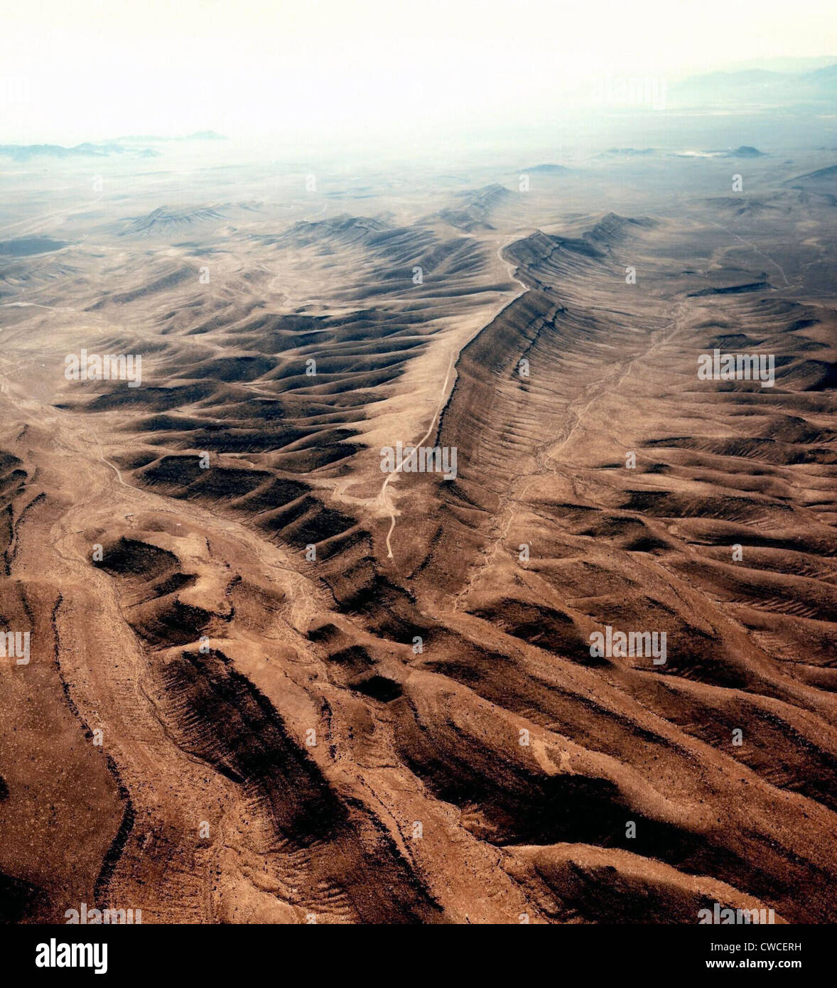 Yucca Mountain was a proposed nuclear waste repository. In 1987 it was selected and $10 billion spent when the project - Stock Image
