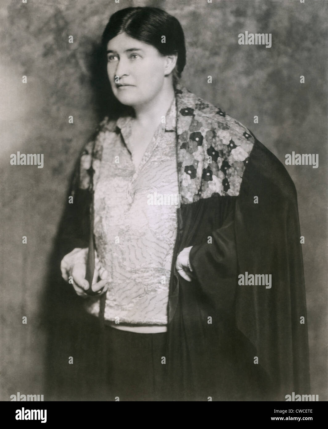 Willa Cather when she began her last novel, SAPPHIRA AND THE SLAVE GIRL. During the Great Depression, her work was Stock Photo