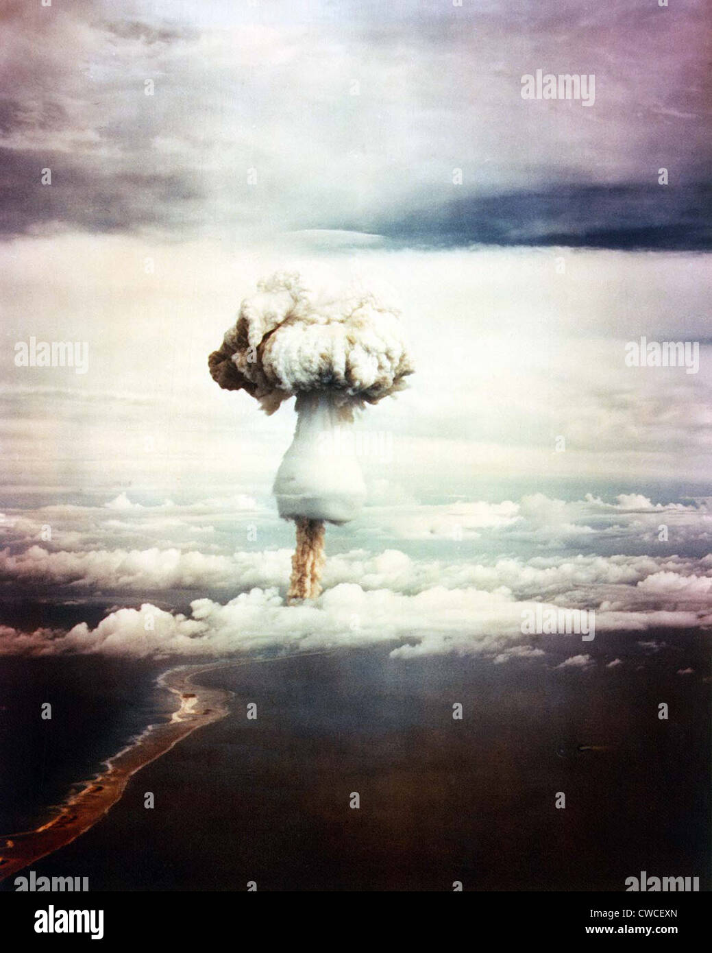 The GEORGE Shot, was the first nuclear explosion to test principles that would lead to hydrogen bombs. It was the - Stock Image