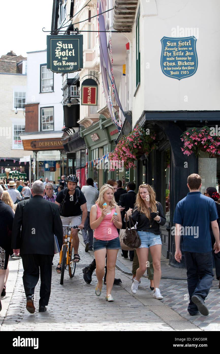 Sun Street, Canterbury, Kent - Stock Image
