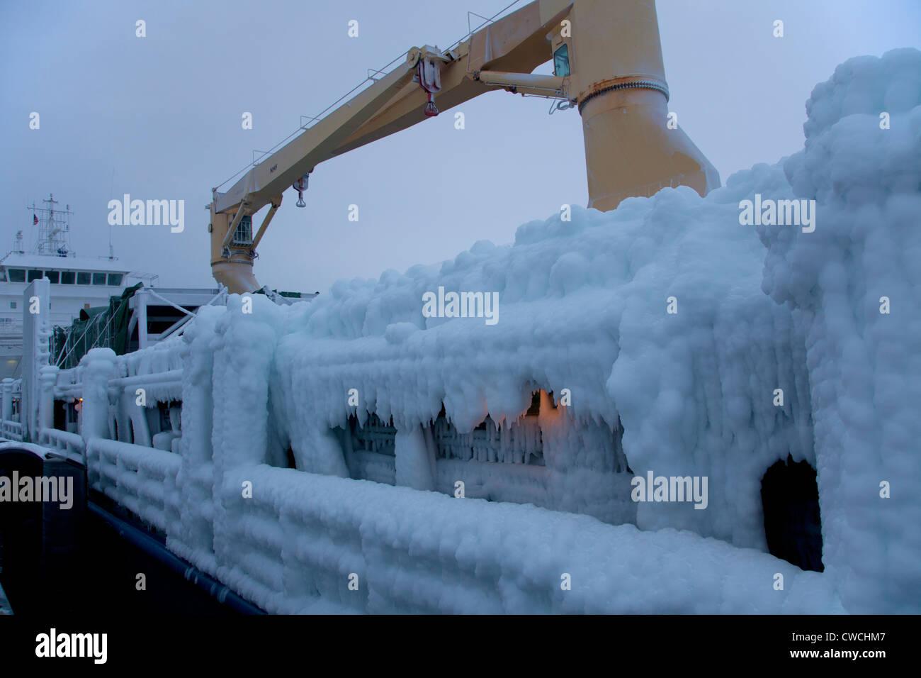 The cargo ship Susan K, Resurrection Bay, Seward, Alaska. - Stock Image
