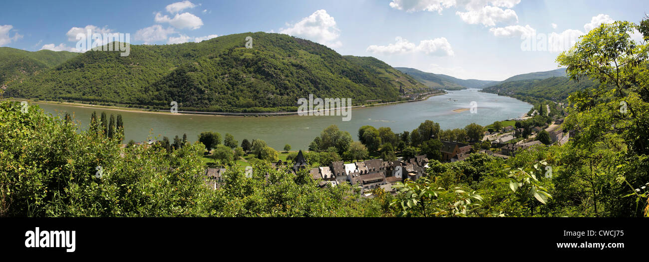 Middle Rhine Valley near Bacharach, Rhineland-Palatinate, Germany Stock Photo