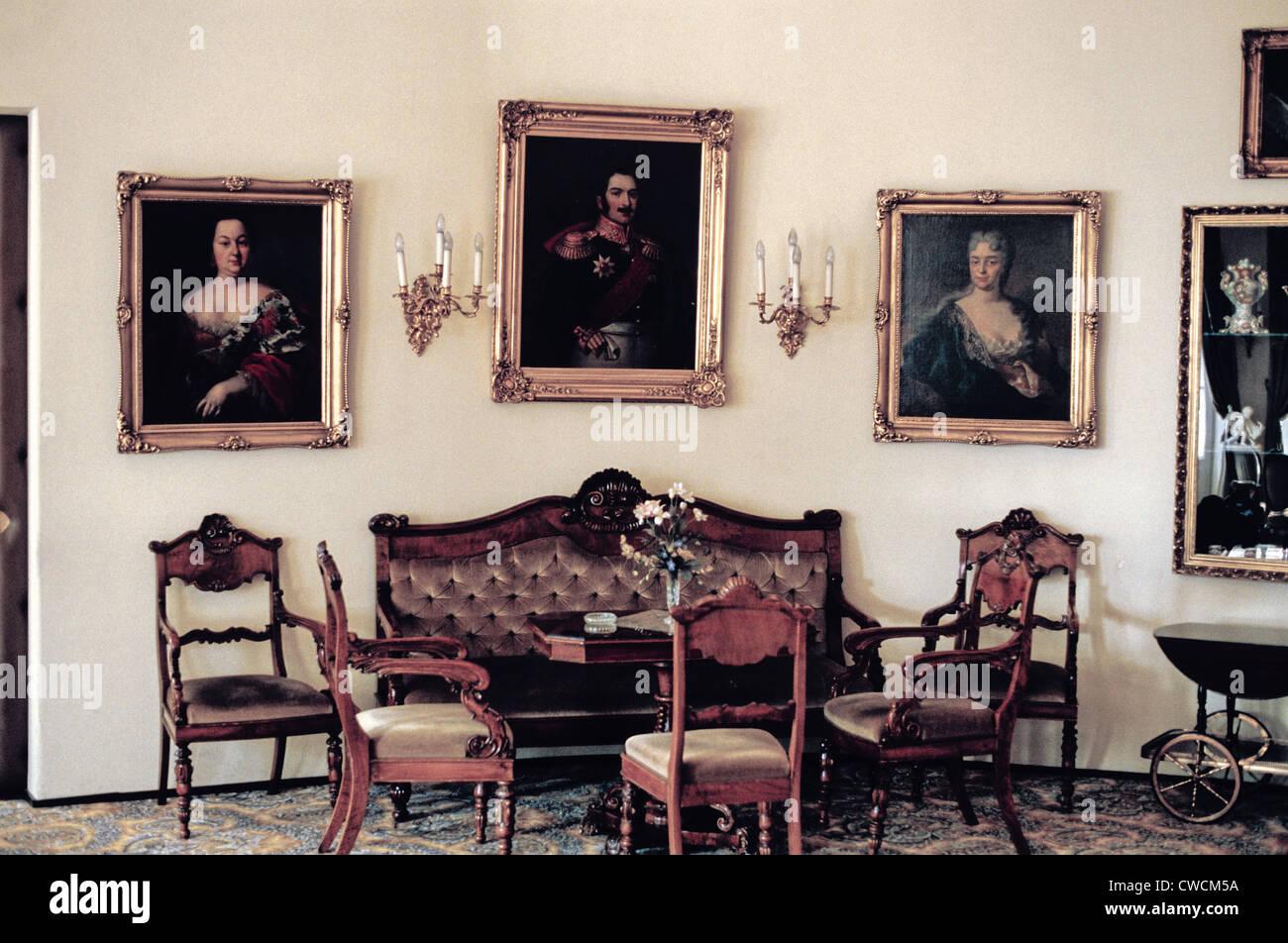 Sitting Room in the Hotel Haikko Manor Spa, Porvoo, Finland - Stock Image