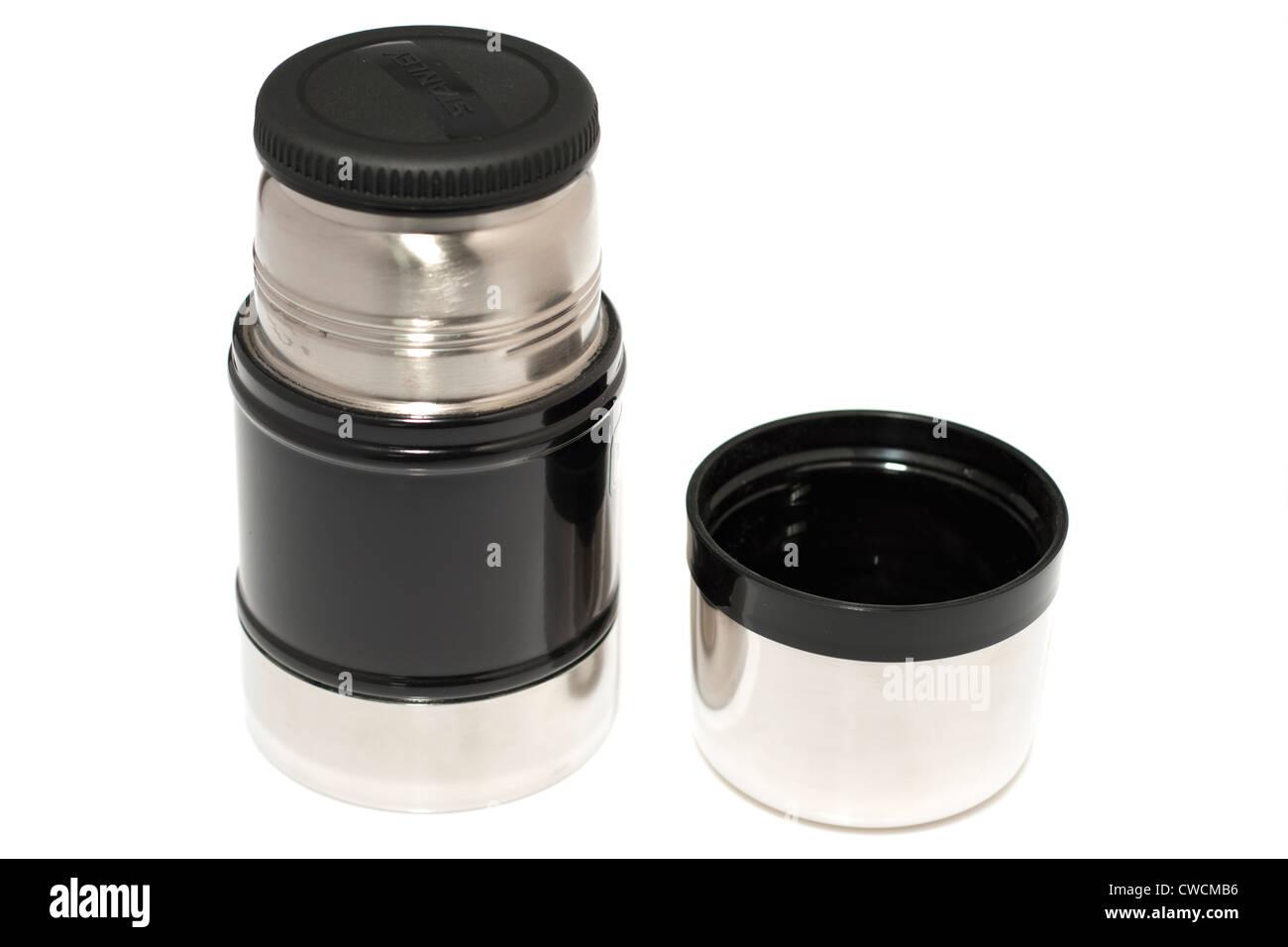 Half litre vacuum food jar flask - Stock Image