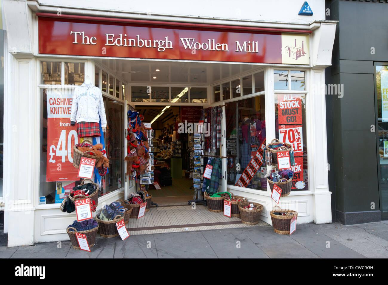 Edinburgh Woollen Mill Shop On Princes Street Edinburgh Scotland Uk Stock Photo Alamy