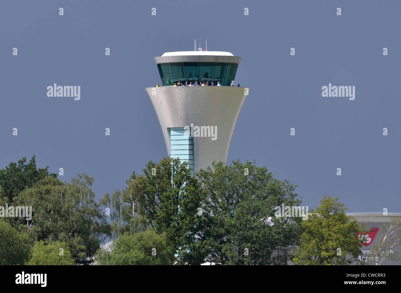 Control Tower, Farnborough Airport, UK - Stock Image