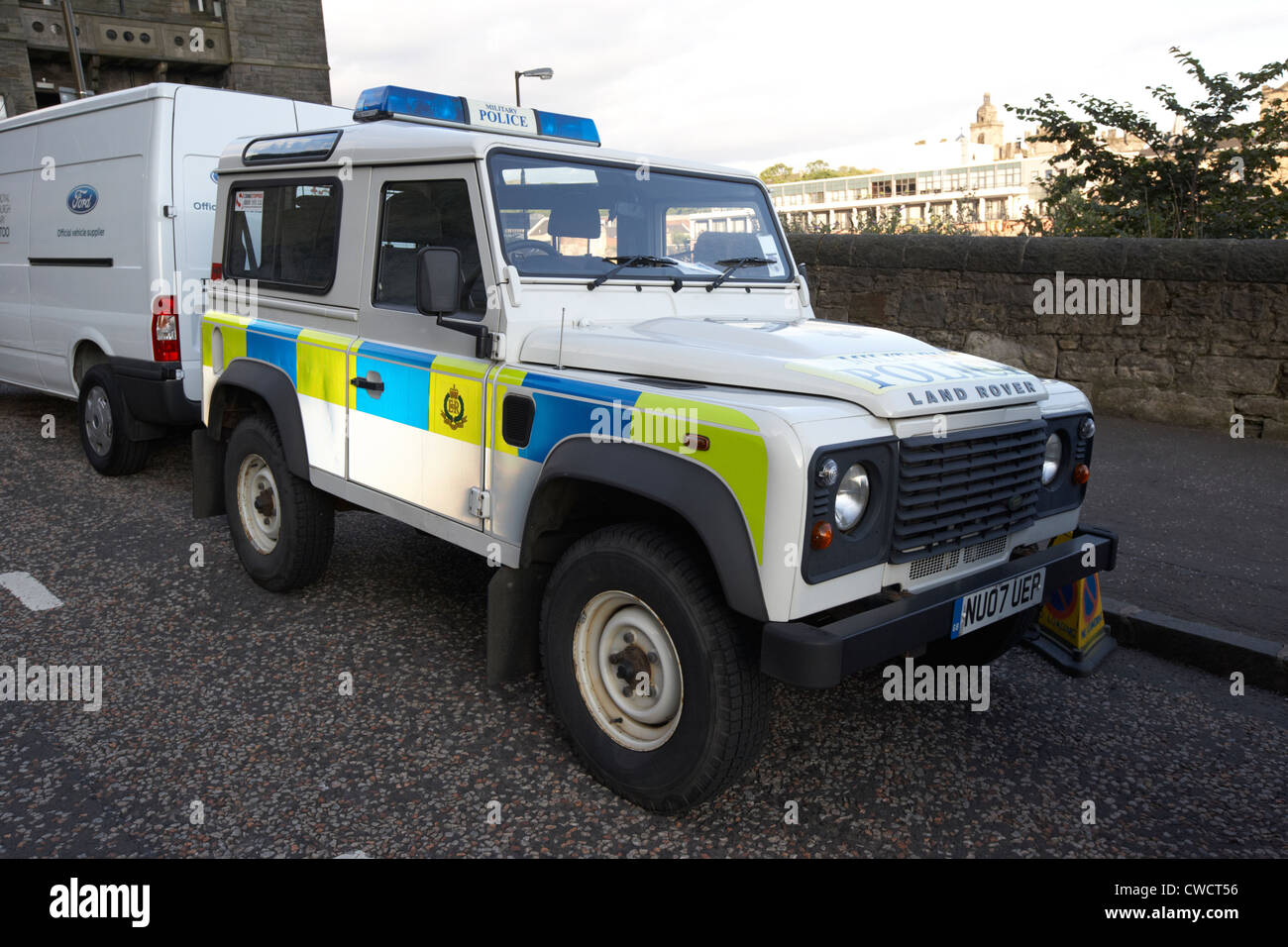 British Army Military Police Landrover Patrol Car With
