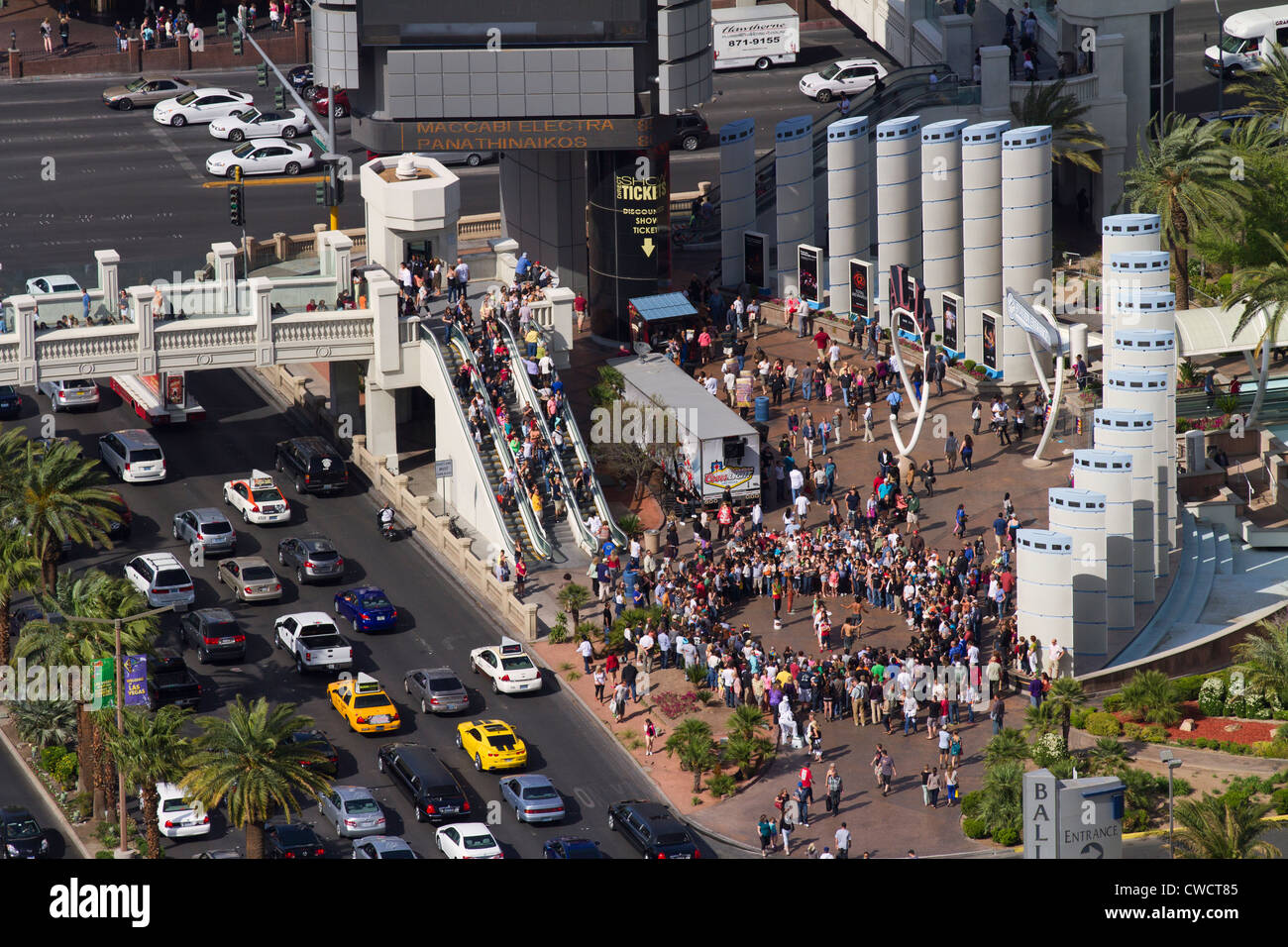 Traffic and congestion, Las Vegas, Nevada. - Stock Image
