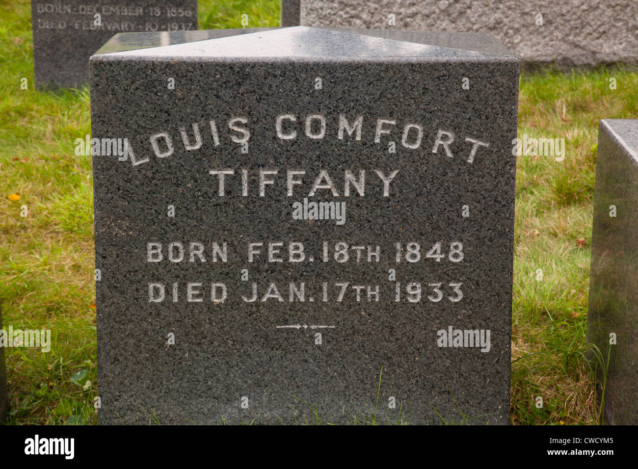 Louis Comfort Tiffany grave Green-Wood Cemetery Stock Photo