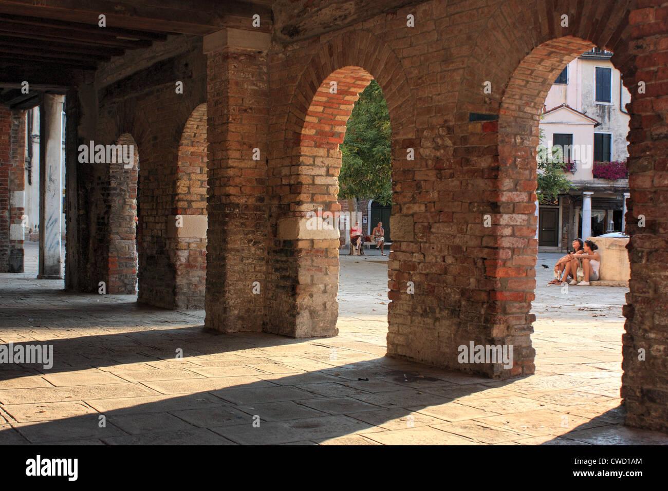 Ghetto Nuovo / Gheto Novo, Venice Stock Photo