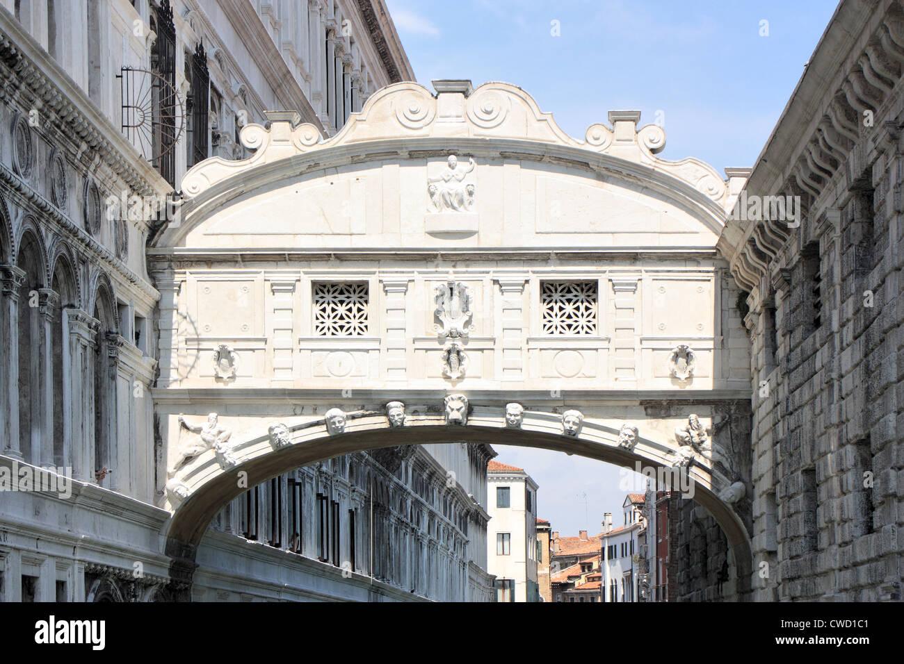 Bridge of Sighs, Venice Italy Ponte dei Sospiri, Venezia Italia Seufzerbrücke, Venedig Italien Pont des Soupirs, - Stock Image