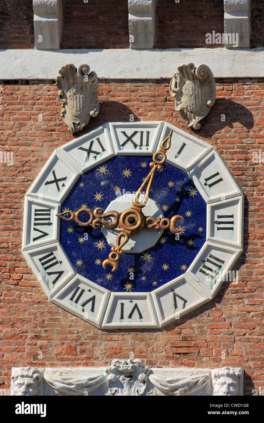 Clock tower of the Arsenale - Stock Image
