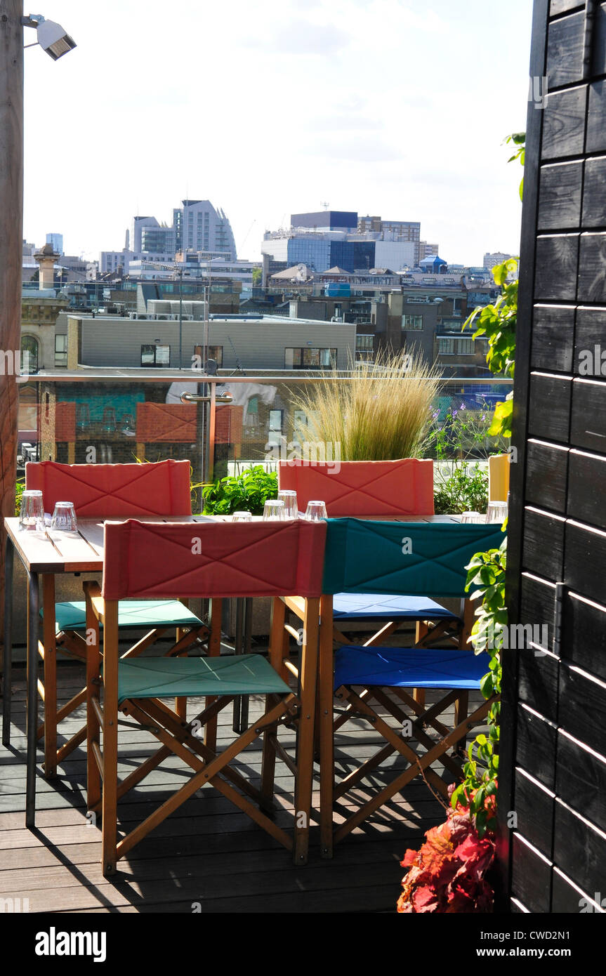 Boundary Rooftop Bar at The Boundary Hotel, Shoreditch, London - Stock Image