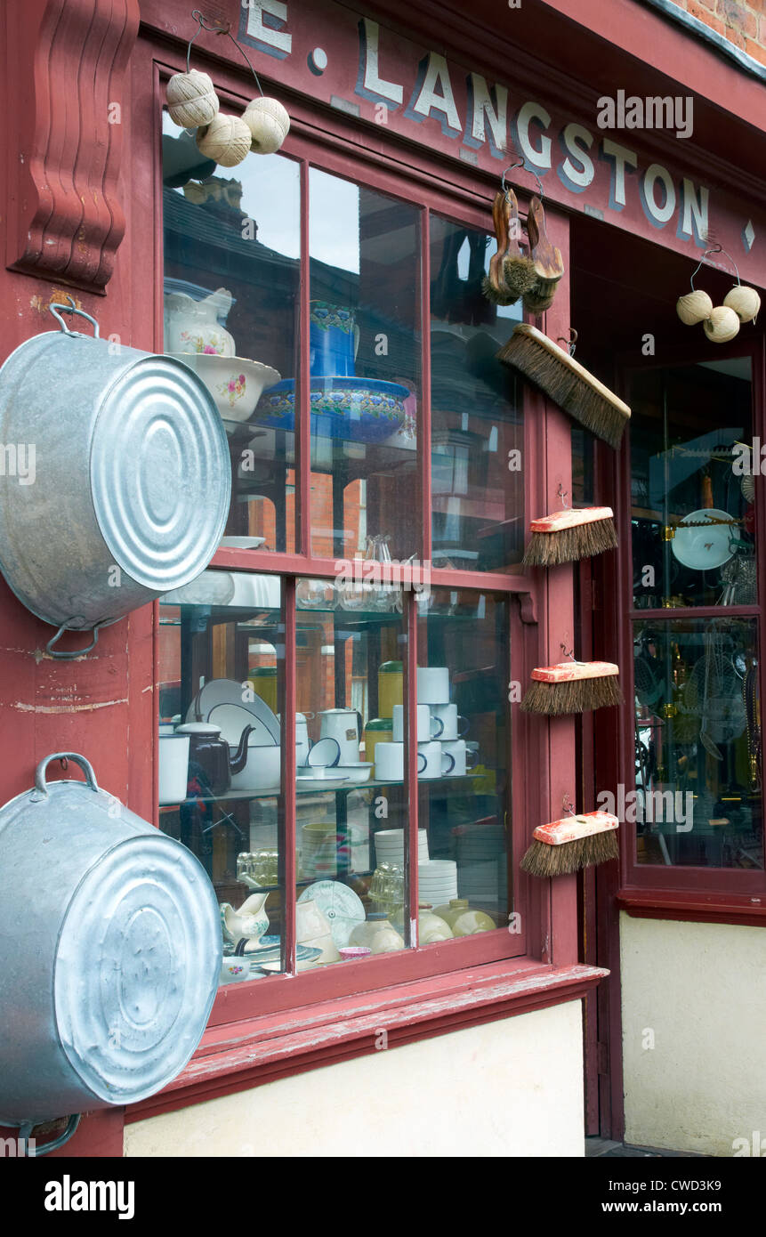 Black Country Living Museum, Dudley, West Midlands. Hardware store of the 1930's. - Stock Image